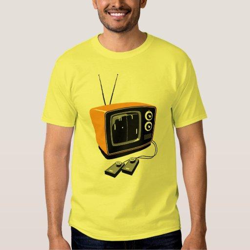 Camiseta del videojugador del vintage poleras