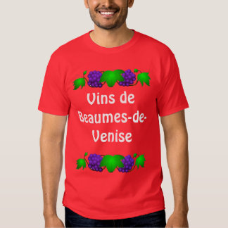 Camiseta del vino - Beaumes-de-Venise Polera