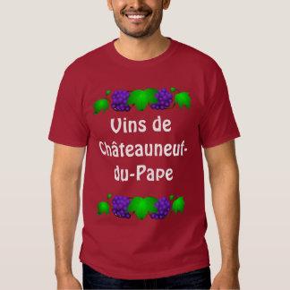 Camiseta del vino - Châteauneuf-du-Pape Polera