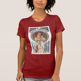 Camiseta del vintage: Anuncio del perfume de Mucha Remeras