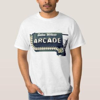 Camiseta del vintage de la arcada de los sauces de camisas