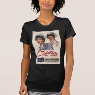 Camiseta del vintage de la enfermera del cadete playeras
