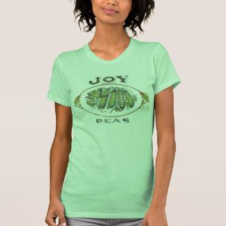 Camiseta del vintage de los guisantes de la marca