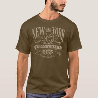 Camiseta del vintage del arte de la unión de Nueva