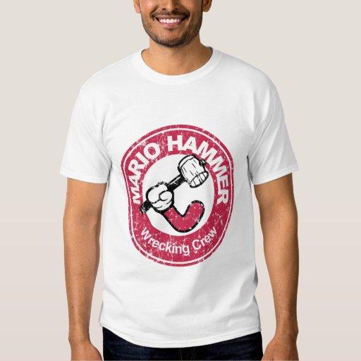 Camiseta del vintage del martillo de Mario Playera