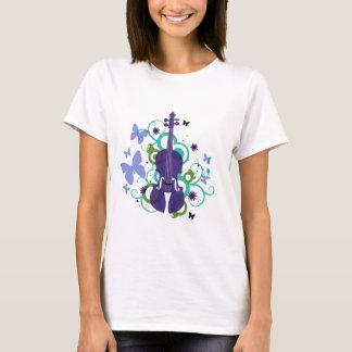 Camiseta del violín del cielo