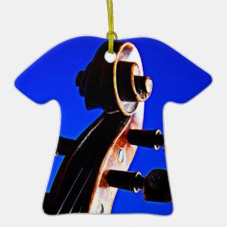 Camiseta del violín o del ornamento de la viola adorno de cerámica en forma de playera