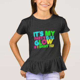 Camiseta del volante de la fiesta de cumpleaños