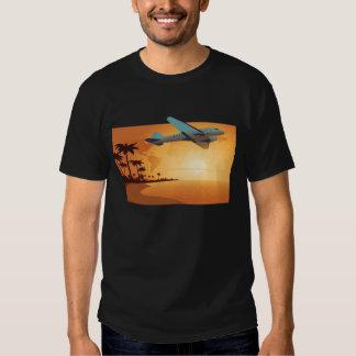 Camiseta del vuelo de la isla camisas