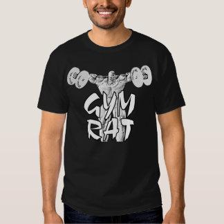 Camiseta del Weightlifter de la rata del gimnasio Playera