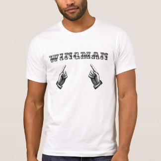 Camiseta del Wingman del estilo del vintage
