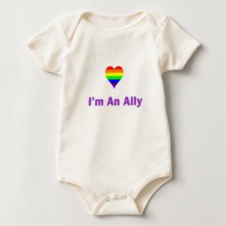 camiseta del zazzle soy un aliado 1.tif mameluco de bebé