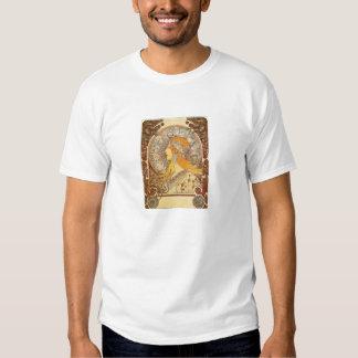 Camiseta del zodiaco de Nouveau Alfonso Mucha del Remeras