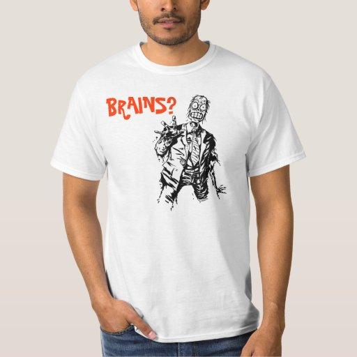 Camiseta del zombi de Shambling de los CEREBROS Playeras