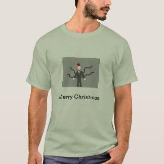Camiseta delgada del navidad del hombre