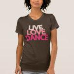 Camiseta delgada oscura de Brown de la danza viva