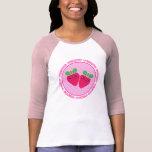 Camiseta deliciosa de la fresa de Kawaii de las