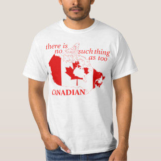 camiseta demasiado canadiense