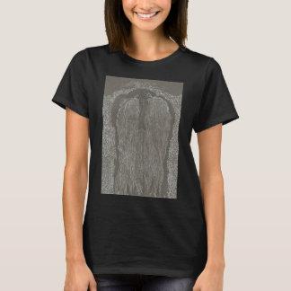 Camiseta derecha del negro del ángel