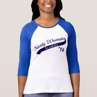 Camiseta desagradable del béisbol de la mujer