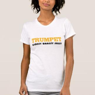 Camiseta descarada con clase de la trompeta