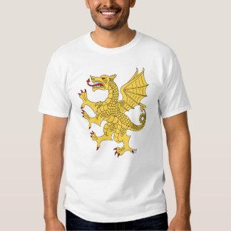 Camiseta desenfrenada del dragón (oro) remeras