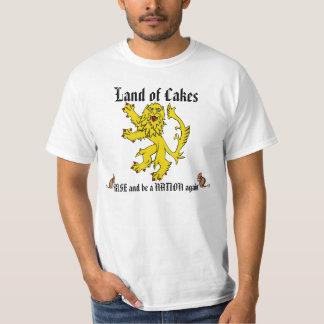 Camiseta desenfrenada del ratón del león escocés remera