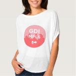 Camiseta desgarbada del logotipo de GDI MPLS Remera