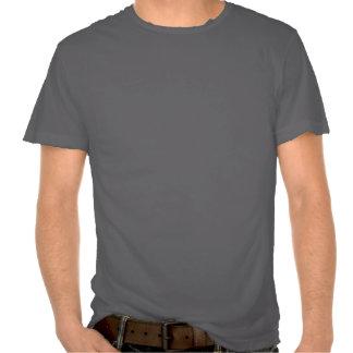 Camiseta destruida del cuerpo sólido