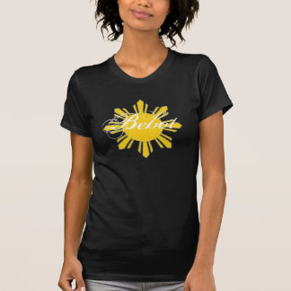 Camiseta destruida negro de Bebot