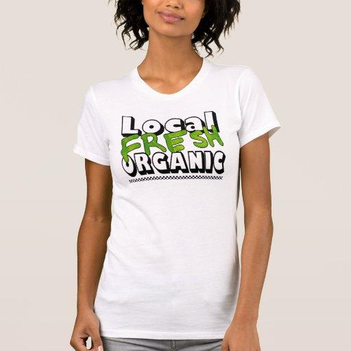 Camiseta destruida orgánica fresca local