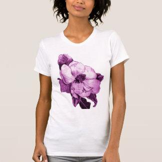 Camiseta destruida orquídea rosada playera