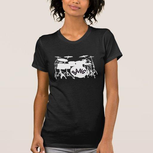 Camiseta determinada del tambor para mujer