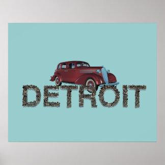 CAMISETA Detroit Póster