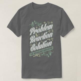 Camiseta dialéctica hegeliana de la solución de la poleras