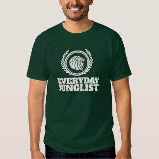 Camiseta diaria de Junglist - verde del tambor y