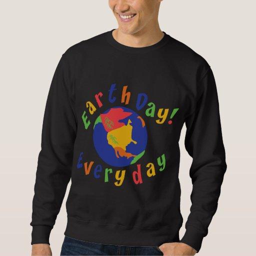 Camiseta diaria del Día de la Tierra Sudadera Con Capucha