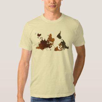 Camiseta divertida AL REVÉS del MAPA DEL MUNDO de Camisas