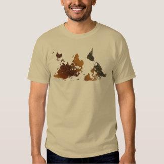 Camiseta divertida AL REVÉS del MAPA DEL MUNDO de Polera