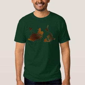 Camiseta divertida AL REVÉS del MAPA DEL MUNDO de Remera