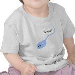 Camiseta divertida azul del bebé del ganador