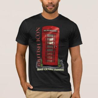 Camiseta divertida británica de la cabina de