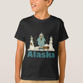 Camiseta divertida de Alaska del muñeco de nieve Playera