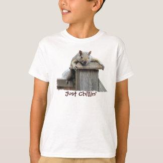 Camiseta divertida de Chillin de la ardilla de