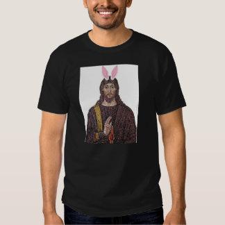 Camiseta divertida de Jesús del conejito de pascua Camisas