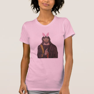 Camiseta divertida de Jesús del conejito de pascua Polera