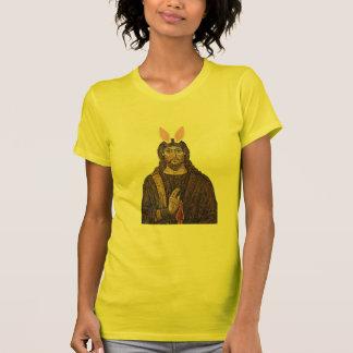 Camiseta divertida de Jesús del conejito de pascua Remera