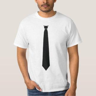 Camiseta divertida de la chaqueta de cena del lazo