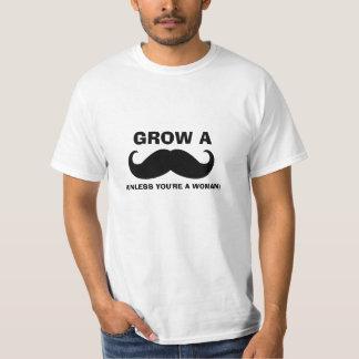 Camiseta divertida de la cita del bigote remeras