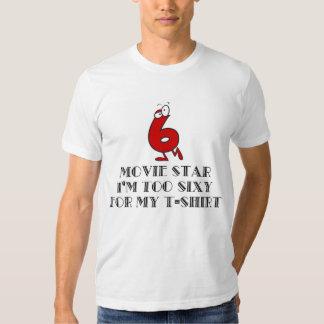 Camiseta divertida de la estrella de cine camisas